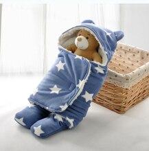 Bébé Sac de Sommeil D'hiver Bébé Au Chaud Sac de Couchage pour Poussette Nouveau-Né Swaddle Couverture Avec Blanc Polaire Bébé Literie Accessoires