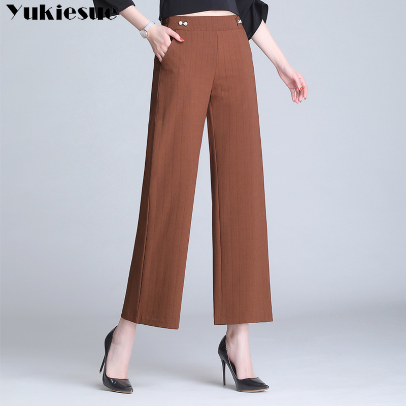 summer streetwear tencel women's   pants     capris   with high waist wide leg   pants   for women trousers woman   pants   female Plus size