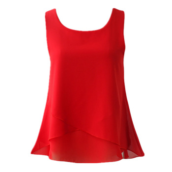 New Women Chiffon Blouse 2020 Top New arrival Summer sleeveless O-Neck Casual Female Blouses Plus Size 6XL Solid color Shirts new summer women blouse loose o neck chiffon shirt female short sleeve blouse plus size 6xl shirts womens tops and blouses top