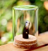 Miyazaki Ghibli Spirited Away Sands Bottle Faceless Faceless Male Doll Ornaments Person Healing Gifts