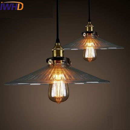IWHD American Vintage Hanging Lights Edison Style Loft Industrial Pendant Light Fixtures Retro Glass Hanglamp Luminaire Lamparas iwhd american edison loft style antique pendant lamp industrial creative lid iron vintage hanging light fixtures home lighting