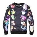 2016 summer style Black/white pokemon sweatshirts men/women 3d hoodies Fashion clothes moleton masculino size plus S-XXL
