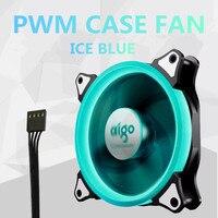 Aigo PWM Lüfter 120mm Mit LED-Ring 4Pin Silent Lüfter Pc-gehäuse Kühler Lüfter PWM 12 cm