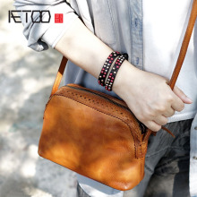 AETOO Ms. Hand-shoulder Shoulder Women Leather Messenger Bag Small Retro Color To do The old Sen Series Shell aetoo imports of hand color tannery europe and the united states men retro to do the old messenger bag