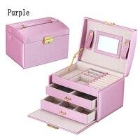 High Quality PU Leather Three Layer Double Drawer Jewelry Box Jewelry Display Jewelry Storage Gift Box