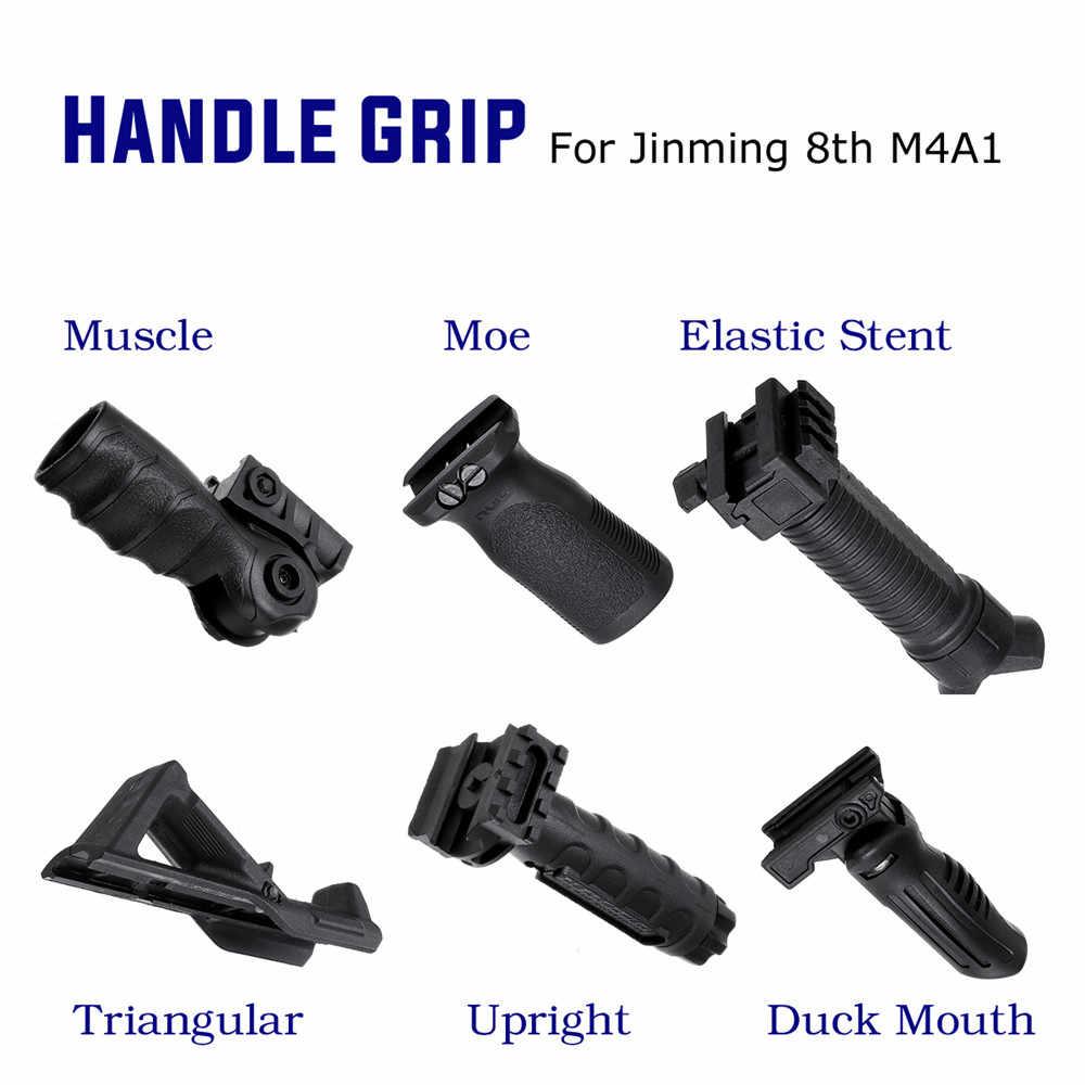 ABS táctico empuñadura Foregrip para JinMing 8th M4A1 Gel Ball Game agua para pistola Juguetes Accesorios