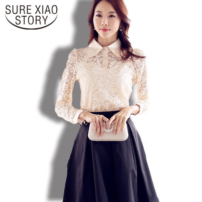 dsg Fashion Co Ltd's store  Women Casual Long Sleeve Silk Shirt Slim Female Blouse Plus Size Spring and Autumn 635H 25