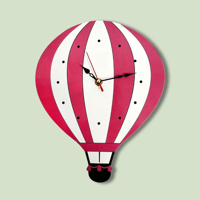 Home Decor Creative Cartoon Acrylic Balloon Owl Design Colorful Silent Wall Clocks