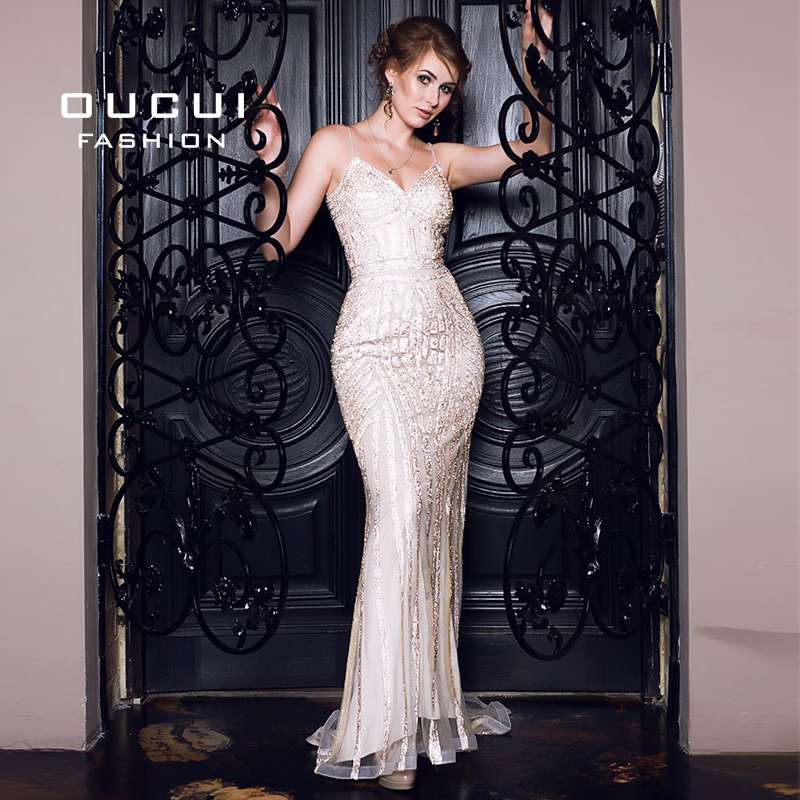 Luxury Tulle Crystal Mermaid Plus Size Evening Dress Long Vestidos De Fiesta De Noche Prom Dresses Robe De Soiree OL102829(China)