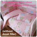 6/7PCS Baby Bettwäsche Sets 100% Baumwolle Baby Bettwäsche Cartoon berco bebe Krippe Bettwäsche Set  120*60/120*70cm|7pcs baby bedding set|baby bedding setcrib bedding set -