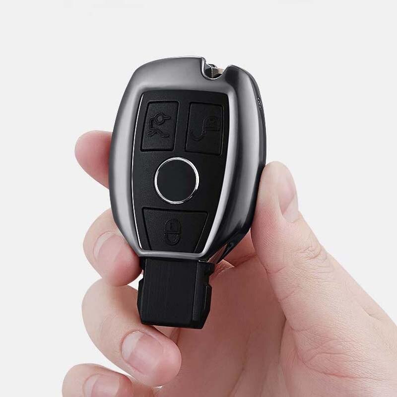 Porte-clés en alliage d'aluminium pour voiture porte-clés pour Mercedes Benz W203 W210 W211 W124 W202 W204 W205 AMG accessoires