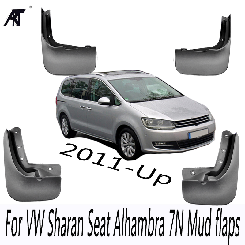 Mud Flaps For VW Sharan 2011-Up Seat Alhambra 7N Mudflaps Splash Guards Front Rear Mud Flap Mudguards 2012 2013 2014 2015 2016