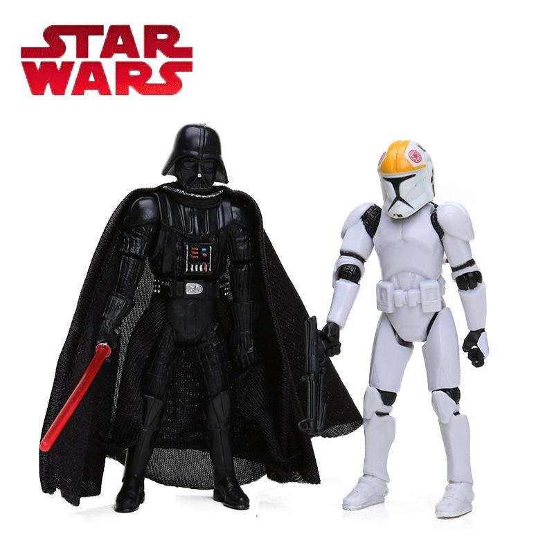 Star Wars Toy 10cm CLONE TROOPERS Commander ANAKIN SKYWALKER DARTH VADER PVC <font><b>Action</b></font> <font><b>Figure</b></font> Collection Model Doll Gifts for Boy