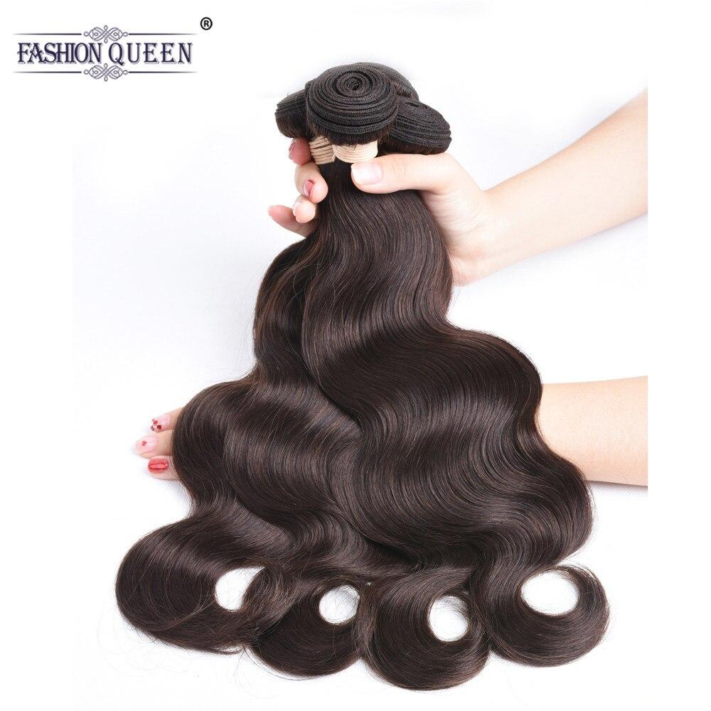 Fashion Queen Brazilian Hair Bundles #2 Brazilian Body Wave Bundles Non-Remy Hair Weft Human Hair Weave Bundles 8-28 inches