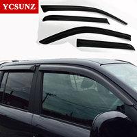 For Volkswagen Amarok Car Wind Deflector Black Car Window Deflectors Visor Vent Rain Sun Guard For