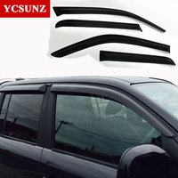 For Volkswagen Amarok Car Wind Deflector Black Car Window Deflectors Visor Vent Rain Sun Guard For