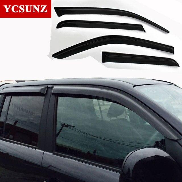 For Volkswagen Amarok Car Wind Deflector Black Car Window Deflectors Visor  Vent rain sun guard For VW Amarok 2009-2014 Shade de7c0817b20