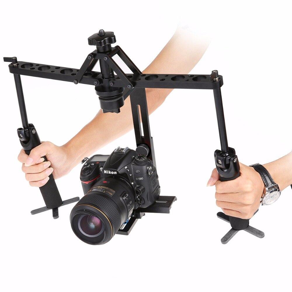 Portable 2 Axes Stabilisateur Cardan Vidéo Steadicam Stable pour DSLR Caméra DV BMPCC