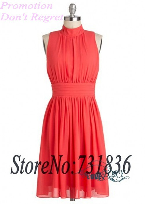 New Pretty Simple Short Red Chiffon Homecoming Dresses 2013 ...