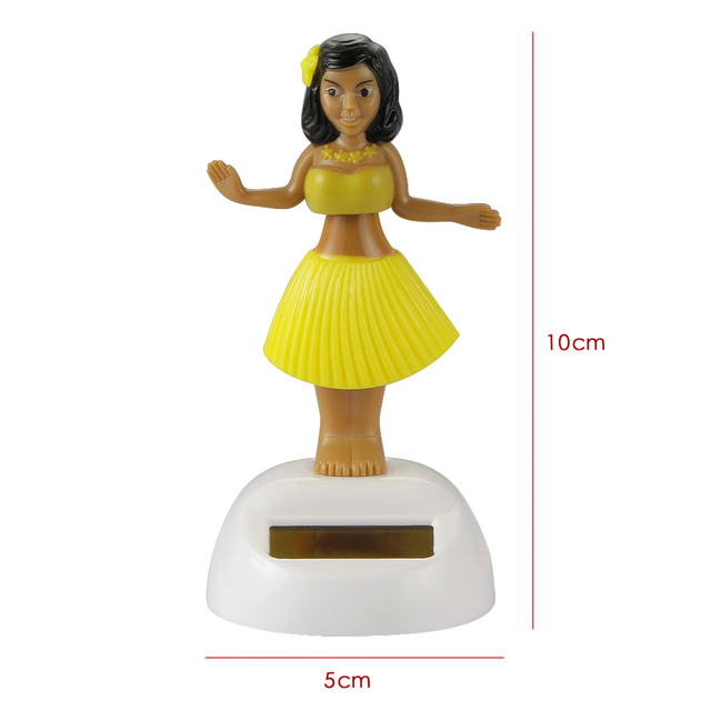 Car Ornament Automobiles Decoration Dancing Hula Girl Swinging Bobble Toy Gifts Auto Interior Home Decor Solar Girls Accessories