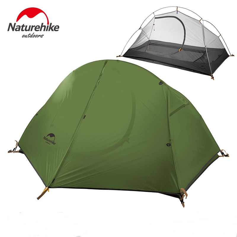 Naturehike Bersepeda Tenda Tunggal Tahan Air 1 2 Orang Backpacking Trekking Mountain Camping Tenda Ultralight 1.3KG
