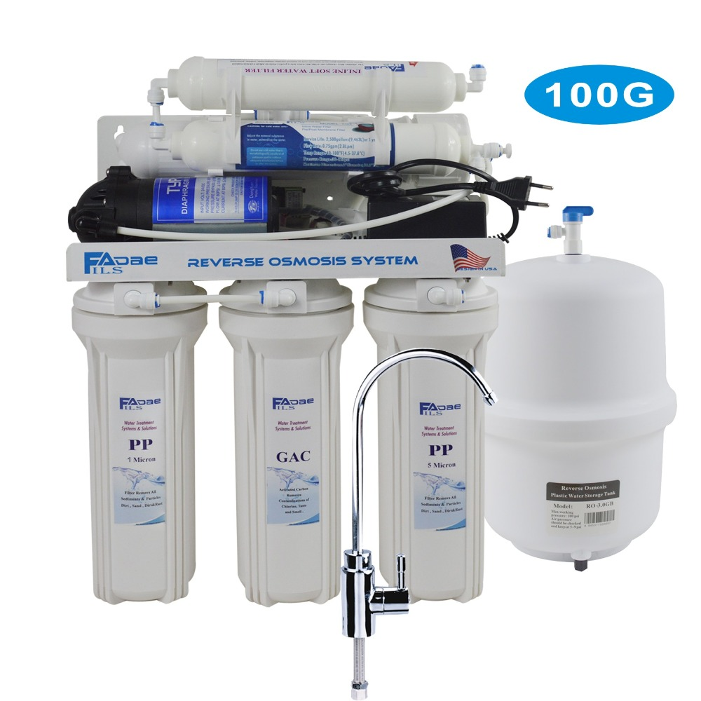 6-Stage Under-Sink Reverse Osmosis Drinking Water Filtration System with Alkaline Filter ph value of 8.00 - 9.5 /100GPD 5 stage undersink reverse osmosis drinking water filtration system 50gpd plus extra set of 4 supreme quality replacement filters