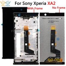 """Para sony xperia xa2 lcd screen display toque digitador assembléia substituição para 5.2 """"sony xa2 lcd h4133 h4131 h4132 ferramentas gratuitas"""