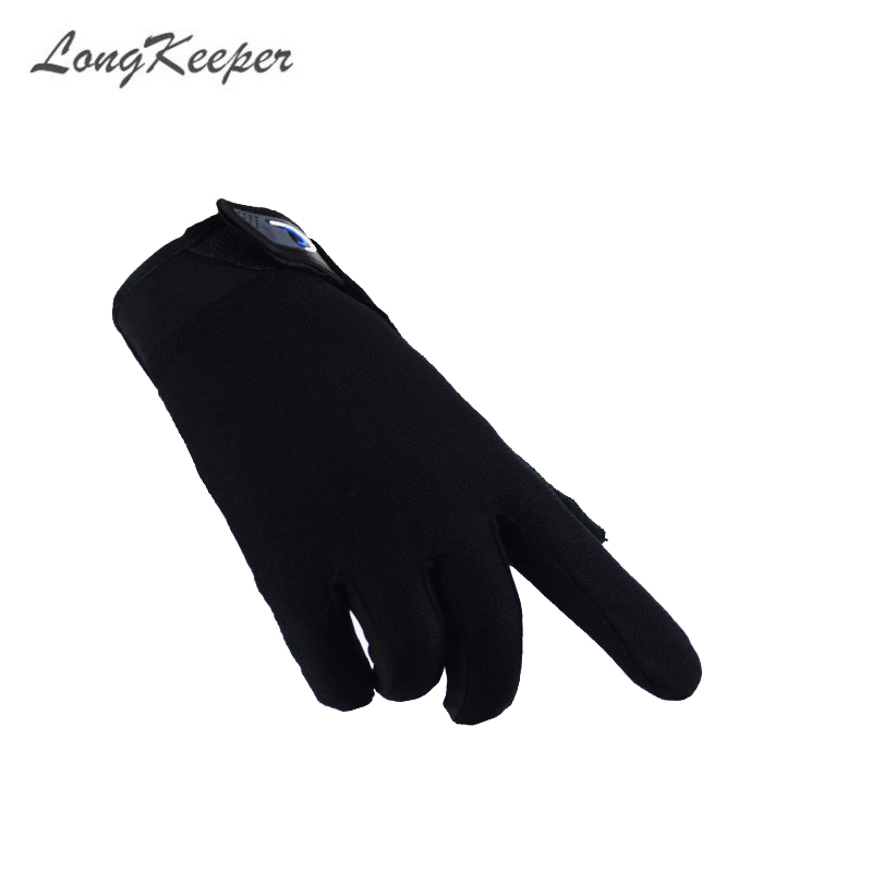 LongKeeper Full Finger Gloves Men's Outdoor Gym Riding Sports Anti-slip Gloves Spring Long Finger Cycling Fitness Gloves