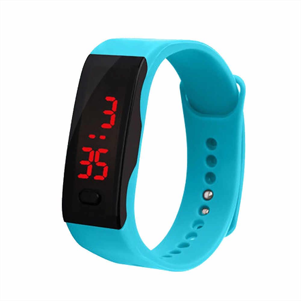 LED شاشة ديجيتال سوار ساعة للأطفال الطلاب هلام السيليكا ساعة رياضية ساعة إلكترونية موضة gif ساعة رجالي في الهواء الطلق