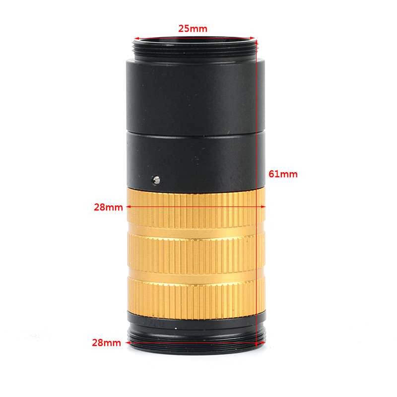 50X 100X High Distance High Visual Field Industrial Adjustable Zoom CS C Mount Lens For HDMI VGA USB Video Microscope Camera цена