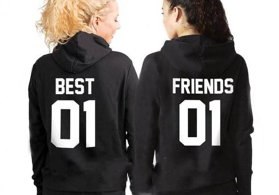 Sugarbaby Best Friends Bff Hoodies Birthday Gift Friends Black