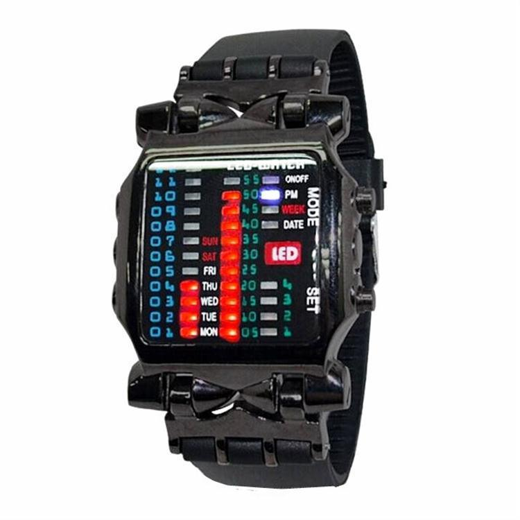 Hot Binary LED Watch Creative Crab Silicone LED Light Watch Watch Student Individual Watch Factory Wholesale