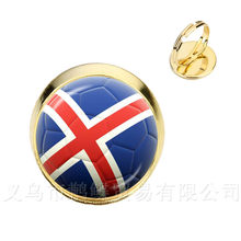 Classic Football Rings 2018 World Cups National Flag Panama,Australia,Egypt,Argentina,Russia,Germany,Denmark,Poland,Soccer Souve(China)