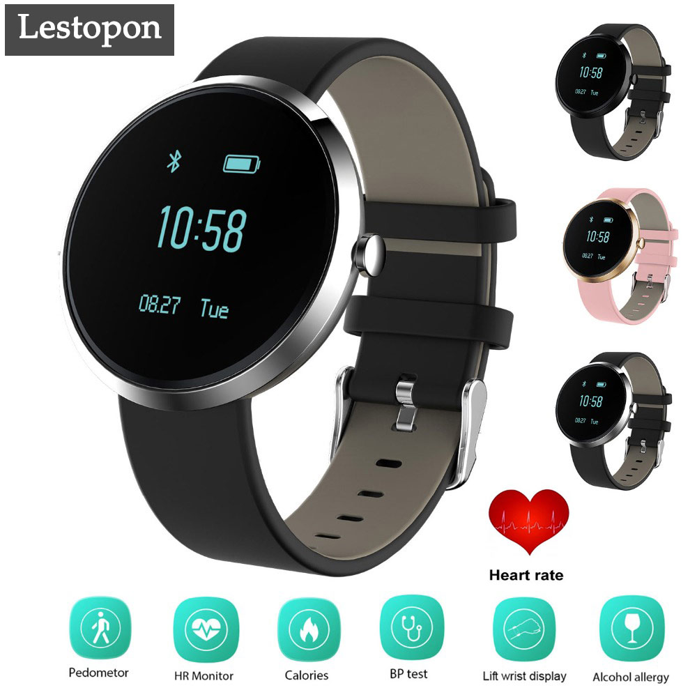Lestopon Fashion Smart Wristband Band Heart Rate Monitor Fitness Bracelet Tracker Band For Ios Android Pedometer