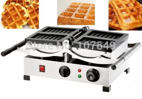 110V 220V Commercial Use Electric Swing Belgian Liege Waffle Maker Baker Machine Iron 110v 220v electric belgian liege waffle baker maker machine iron page 3
