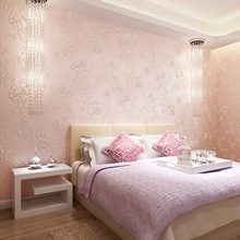 European non  woven wallpaper simple and warm 3D stereo modern bedroom living room sofa background pastoral wallpaper wall paper non woven wallpaper modern european korean garden wallpapers small flower bedroom living room simple wedding room wall wallpaper