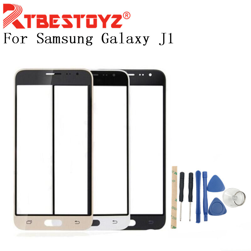 RTBESTOYZ 4.5'' Touch Screen Panel Replacement For Samsung Galaxy J1 2016 J120 J120F LCD Front Outer Glass Cover Lens With Logo