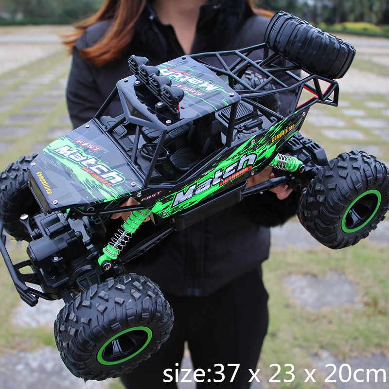 1:12 4WD Mobil RC Yang Diperbarui Versi 2.4G Radio Control RC Mobil Mainan Kereta 2017 Kecepatan Tinggi Truk Off- truk Jalan Mainan untuk Anak