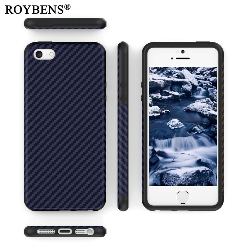 For iPhone SE Case Black Navy Blue Soft Silicone Case For iPhone 5 5S SE Carbon Fiber Cover For iPhone 5S Luxury Business Fundas