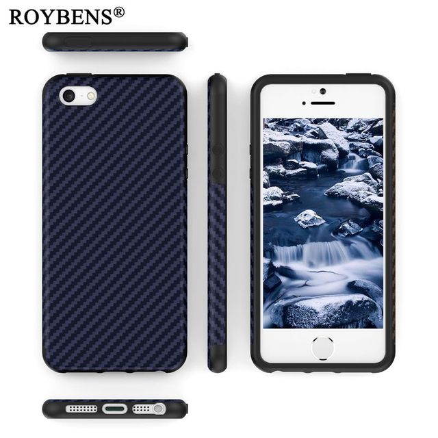 aa3a8aaffcd For iPhone SE Case Black Navy Blue Soft Silicone Case For iPhone 5 5S SE  Carbon Fiber Cover For iPhone 5S Luxury Business Fundas