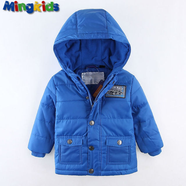 Mingkids Outdoor thermal blue jacket Waterproof Windproof coat for boys  fleece padded spring autumn European Size German quality c7859cc92