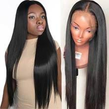 180 Density Lace Front Human Hair Wigs For Black Women PrePlucked Long Brazilian Straight Lace Wig With Baby Hair Remy Lace Wig цены онлайн