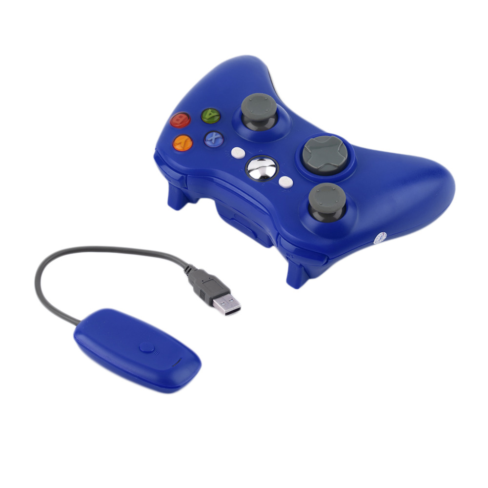 Blue Color 2 4G Wireless Gamepad Joypad Game Remote Controller Joystick With Pc Reciever For Microsoft