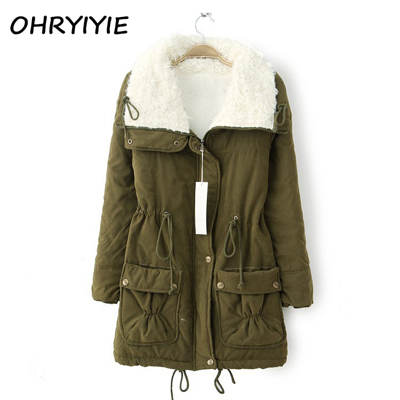 OHRYIYIE Autumn Winter Jacket Coat Women Parka 2017 New Woman Clothes Solid Long Jacket Slim Women's Winter Jackets And Coats olgitum new autumn winter jacket coat women parka woman clothes solid long jacket slim women s winter jackets and coats cc107
