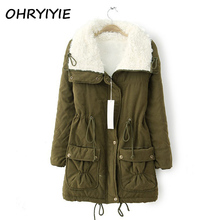OHRYIYIE Autumn Winter Jacket Coat Women Parka 2017 New Woman Clothes Solid Long Jacket Slim Women's Winter Jackets And Coats