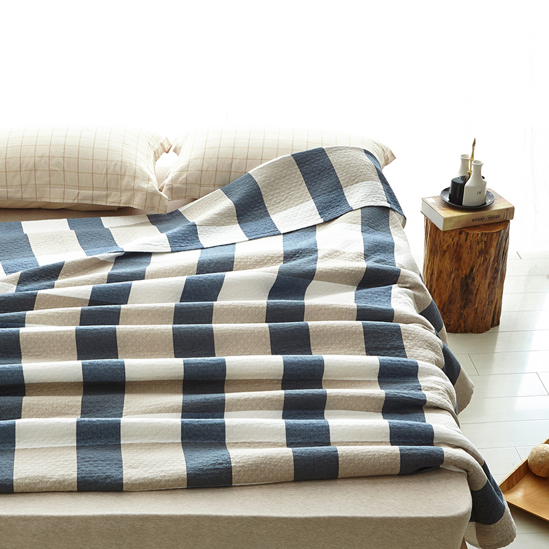 Classical style big plaids Cotton gauze Towel Blanket Single Double bed soft Blankets Twin Queen size Bedding Sheets <font><b>sofa</b></font> Throws