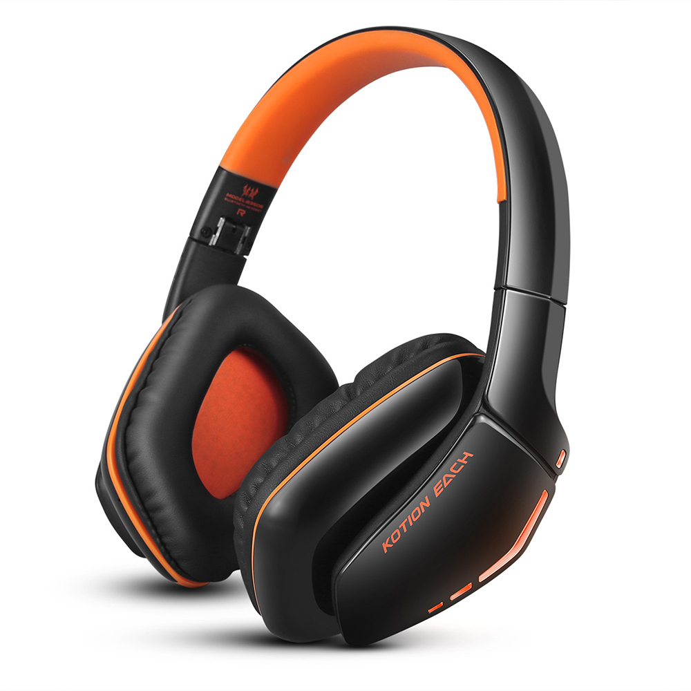EACH B3506 Foldable Bluetooth 4.1 Wireless Gaming Headset Headphones Stereo with Mic for Computer PS4 Tablet (Orange) high quality csr8635 chipset stereo headphone with mic speaker headset foldable bluetooth 4 1 headphones
