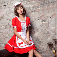 New Sexy Sweet Gothic Lolita Dress French Maid Costume Anime Cosplay Sissy Maid Uniform Plus Halloween Costumes For Women S 5XL