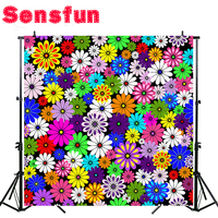 Polyester cloth Printed photography background flower backdrop 300x300cm