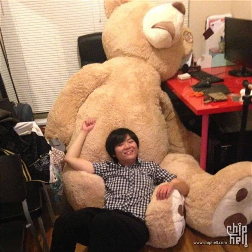 2,6 м большой медведь гигантский плюшевый мишка игрушка подарок на день рождения мягкого плюша super big bear для подарка высокое качество